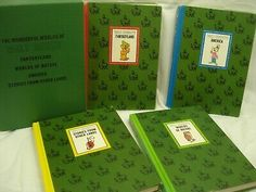 1965 - VTG Wonderful Worlds of Walt Disney. All 4 hardback books are free of writing or dog eared page corners. Pages are clean and bright.