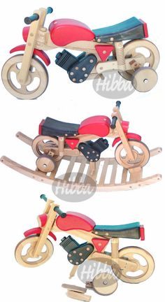 rocking toys and wooden rocking motorbikes for children, combi trainer bike