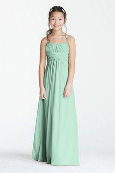 Long Chiffon Sweetheart Gown - Mint (Green), 18