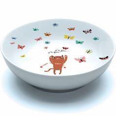 Assiette creuse Djeco en porcelaine - Chatmallow - Arts de la table Vaisselle en mélamine - Décoration Chambre d'enfant