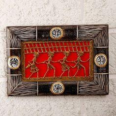 Wall Decor : Dhokra Tribal Art Wall Frame - Rectangle Shape