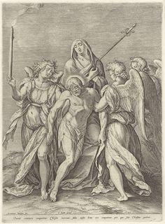 Piëta, Hieronymus Wierix, Johannes Sadeler, 1582