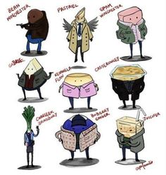 If Supernatural Characters were food----This is why I love my fandom. We cope SO well with the Hellatus. :D