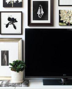 arranging art around tv - Google Search