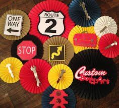 Garage Monkey/Cars Themed Backdrop, Cars Birthday Party, Route 66 Party, Boy Birthday Ideas