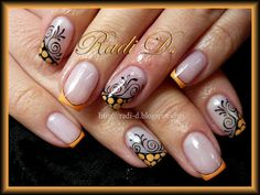 Orange Creme French  #nail #nails #nailart