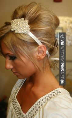 Love this! - wedding hair accessories Rhinestone Bridal Headband- KELLY, Wedding…