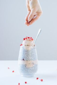 Vanilla Chia Seed Pudding with Chocolate Coconut Cream