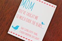 Funny Mother's Day cards: Potty Mother's Day Card from Me and Wee | Cool Mom Picks