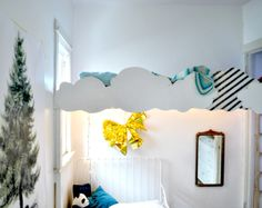 Fantastic! Cloud to disguise loft bed - such a neat idea