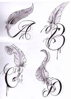 Letters with Wings - Tattoos and Tattoo Designs: Letters Tattoo Tattoos Feather Tattoo Design, Feather Tattoos, Wing Tattoo Designs, Wing Tattoos, Places For Tattoos, Tattoos For Kids, Small Tattoos, Letter R Tattoo, Initial Tattoo
