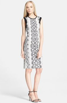 Roberto Cavalli Sleeveless Python Print Dress available at #Nordstrom