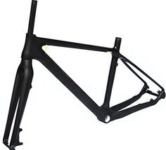 Full Carbon Matt 26er Mountain Bike MTB BSA Cycling Frame And Fork 17' -- Want additional info? Click on the image.