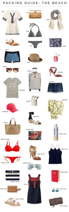 Packing Guide: The Beach - Love You, Mean It