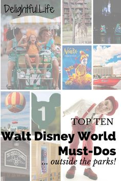 Headed to Walt Disney World in the summer and want to avoid lines, or just need a change of scenery during the long days? Here are 10 of our favorite things to do outside the parks during a Disney vacation. and some of them are FREE! Disney World Tips And Tricks, Disney Tips, Disney Fun, Disney Travel, Disney Stuff, Disney Ideas, Disney 2015, Disney Secrets, Disneyland Tips