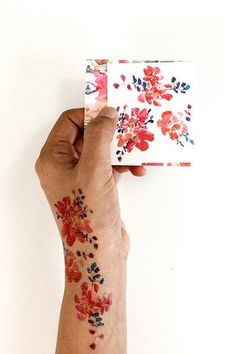 The perfect way to test out that tattoo idea (or celebrate your love for florals)