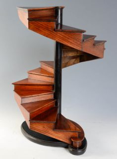 19th Century French Oakwood Masterpiece Spiral Open Stair | From a unique collection of antique and modern architectural models at http://www.1stdibs.com/furniture/more-furniture-collectibles/architectural-models/