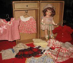 Vintage Effanbee Patsy Jr Patsyette Doll 1930's Antique Huge Lot Trunk Clothes | eBay