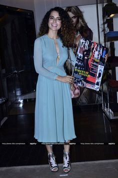 Kangana looked breathtaking in a blue Burberry outfit at the launch of a magazine's latest edition. http://movies.ndtv.com/photos/two-queens-a-princess-kangana-sonali-rhea-18177