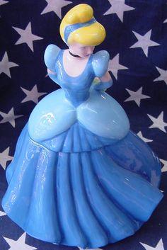 SOLD Cinderella cookie jar/taken by Jazz'e Junque in Chicago www.jazzejunque.com