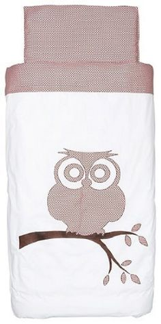 Little Naturals Duvet cover and pillowcase Organic Owl 47.2 x 59.1 in pink brown by Jollein Little Naturals, http://www.amazon.co.uk/dp/B004Z4HKDW/ref=cm_sw_r_pi_dp_Nphtsb1TZYGAJ