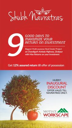 Good Days to maximize your return on investment. Hurry Inaugural discount offer valid till Navratras only @ http://goo.gl/W99HmT