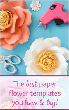 How to make giant paper flowers. Large paper flower tutorials. DIY paper flowers. Easy step by step. #diy