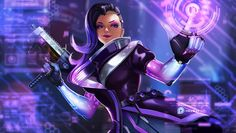Support me on Patreon Tumblr Artstation Instagram Facebook Hi all! You may know that Blizzard announced Sombra in Overwatch and the whole Internet is in pink-purple colours now...
