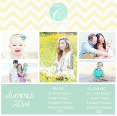 My Photography Price Sheet Template <3 #pricesheet #photography #churchinphotography #chevron #summer #beach #flowerfield #minisession