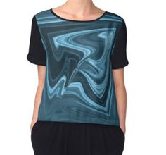 'Distorted Mirrors' Women's Chiffon Top available at http://www.redbubble.com/people/chrisjoy/works/15378206-distorted-mirrors?p=chiffon-top&style=chiffon-top&body_color=black