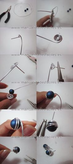 http://www.manualidadesfaciles.es/wp-content/uploads/2012/07/tuto-topos-alambre.jpg #studearringsdiy