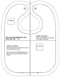 Image result for free pattern adult bibs Printable
