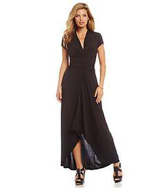 MICHAEL Michael Kors Hi-Low Matte Jersey Maxi Wrap Dress | Dillard's Mobile