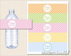 Printable Party Water Bottle Labels Happy by ModernBeautiful, $8.00