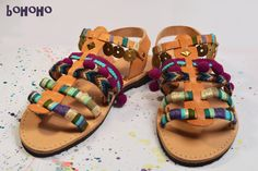 Handmade bohemian sandals. Anemone collection #handmade #bohemian #sandals #summer