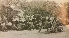 Kommandant Botha se kriegsraad voor Slag van Colenso.