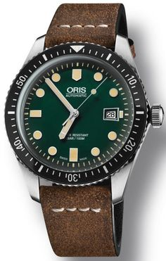 @oris Watch Divers Sixty Five Green Leather Pre-Order #add-content #basel-16 #bezel-unidirectional #case-material-steel #case-width-42mm #date-yes #delivery-timescale-call-us #dial-colour-green #gender-mens #luxury #movement-automatic #new-product-yes #official-stockist-for-oris-watches #packaging-oris-watch-packaging #pre-order #pre-order-date-30-10-2016 #preorder-october #style-divers #subcat-divers #supplier-model-no-01-733-7720-4057-07-5-21-02 #warranty-oris...