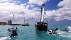 EPIC PIRATE WATER BATTLE IN ARUBA!!! | Devinsupertramp