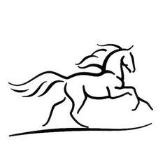 Horse Outline Tattoo Design