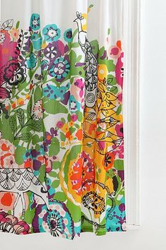 Woodland Garden Curtain-Urban Outfitters