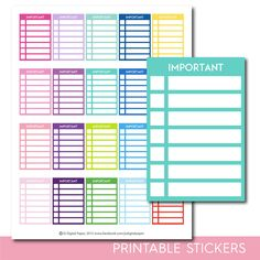 Important stackable stickers, Important checklist stickers, Important stickers, Important planner stickers, Important full box, STI-285