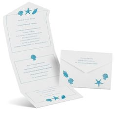 white, beach seal and send wedding invitations at Ann's Bridal Bargains -- Call (310) 882-5039 if you are looking for CA wedding officiants. https://OfficiantGuy.com