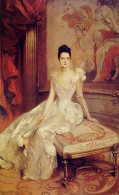 1890 John Singer Sargent (American expatriate artist, 1856-1925) Mrs. Hamilton McKown Twombly  It's About Time