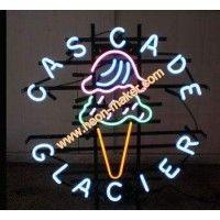 Cas Cade Glacier Neon Sign