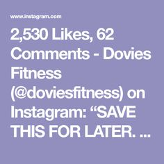 "2,530 Likes, 62 Comments - Dovies Fitness (@doviesfitness) on Instagram: ""SAVE THIS FOR LATER. These are some of my fav workout when it comes to cardio abs and some lower…"""