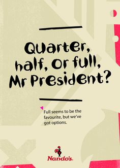 Nandos Advert Offers President Zuma Options - SAPeople - Your Worldwide South African Community