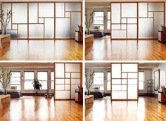 Semi-transparent, wood-framed, sliding screen doors from Raydor are much like the classic rice-paper ones of Japan, these models come with a bit of a twist.