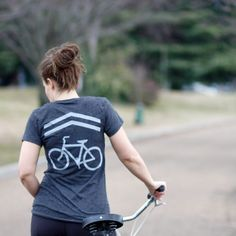 Share the Road bike tshirt for women women's by blackbirdtees