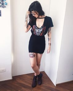 Women S Fashion Dropshippers Usa Referral: 5477851734 Alternative Outfits, Alternative Mode, Alternative Fashion, Fashion 90s, Dark Fashion, Grunge Fashion, Fashion Outfits, Womens Fashion, Look Rock