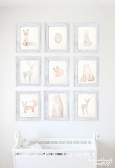 Ridiculously Cute Watercolor Forest Animal Printable Set | We Lived Happily Ever After | Bloglovin'